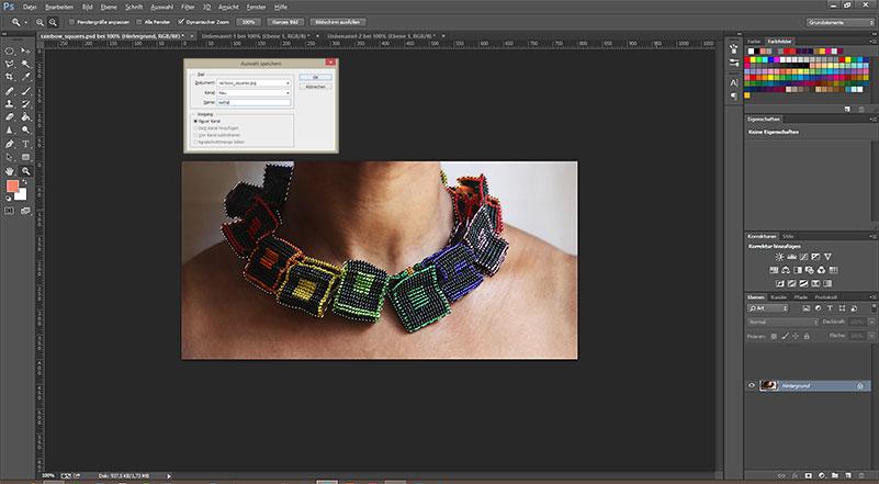 Photoshop Tutorial - Auswahl speichern
